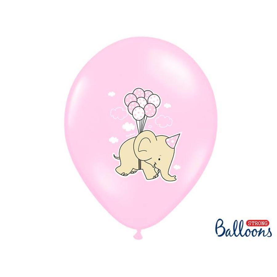 Roze ballonnen olifant (6 stuks)-2