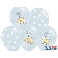 thumb-Blauwe ballonnen olifant (6 stuks)-1