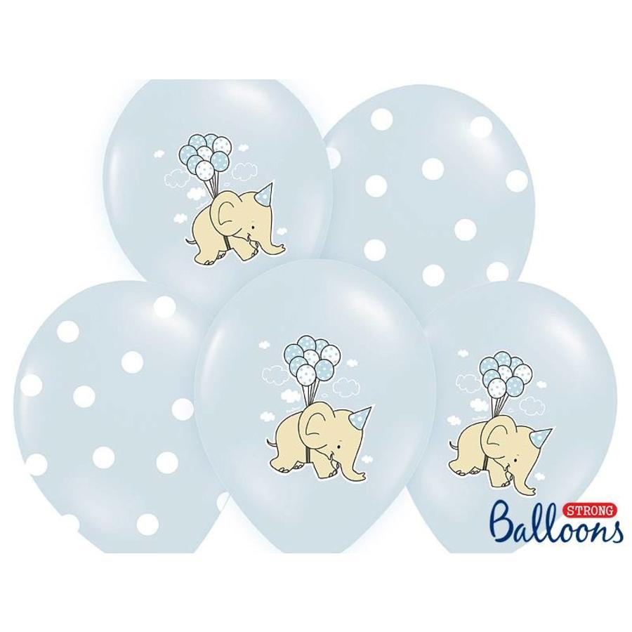 Blauwe ballonnen olifant (6 stuks)-1