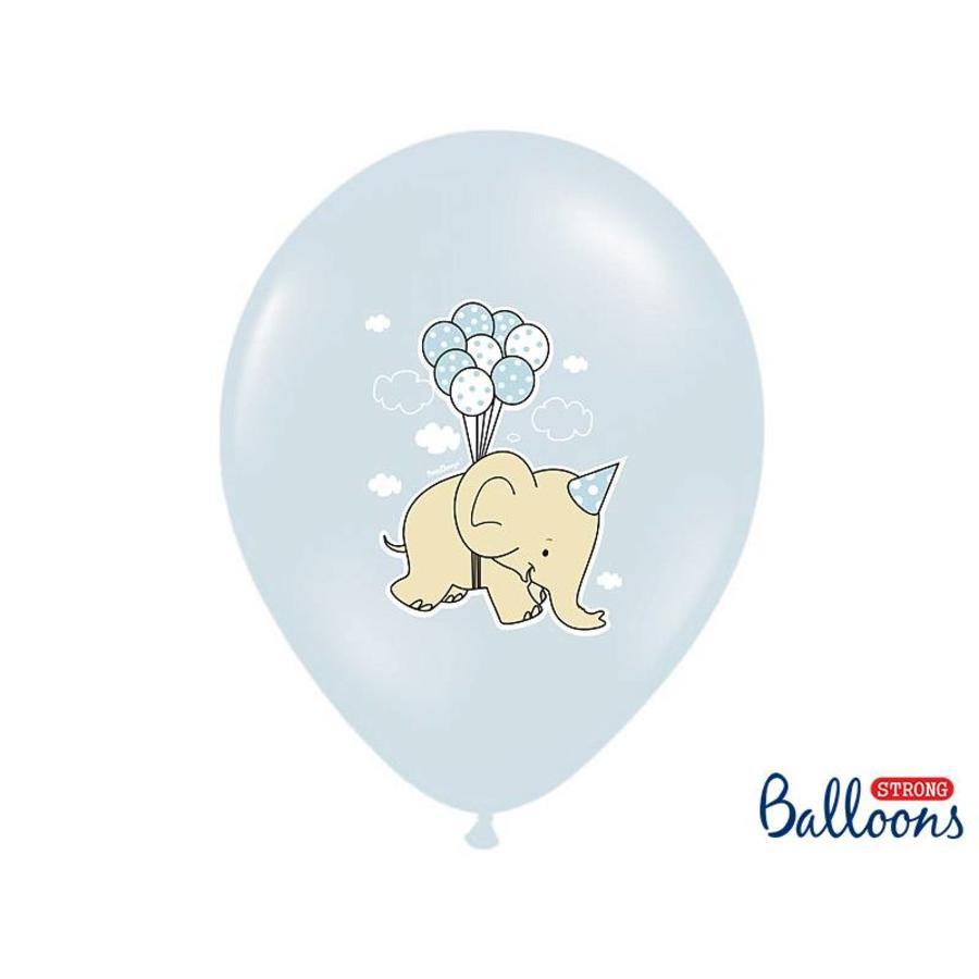 Blauwe ballonnen olifant (6 stuks)-2