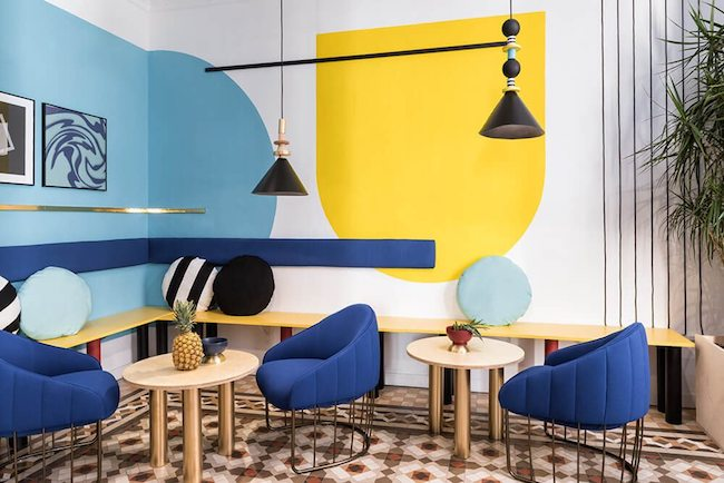 colour blocking in het interieur