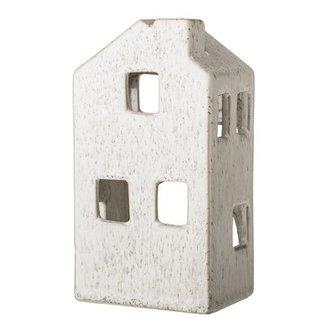 Bloomingville Waxinehouder wit huisje hoog