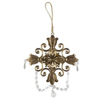 Be Pure Home Kersthanger ornament antique brass XL
