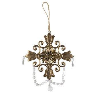 BePureHome Wanddecoratie antique brass XL