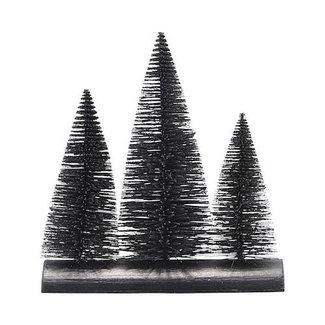 House Doctor Kerstdecoratie zwarte kerstbomen