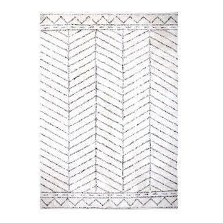 Bloomingville Zwart wit vloerkleed met patroon