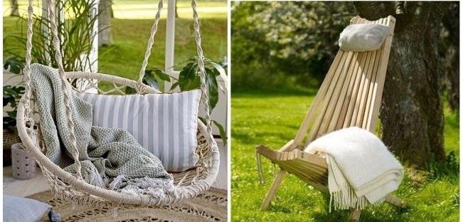 Kom helemaal tot rust in de hangstoel van Bloomingville of de ecochair van EcoFurn