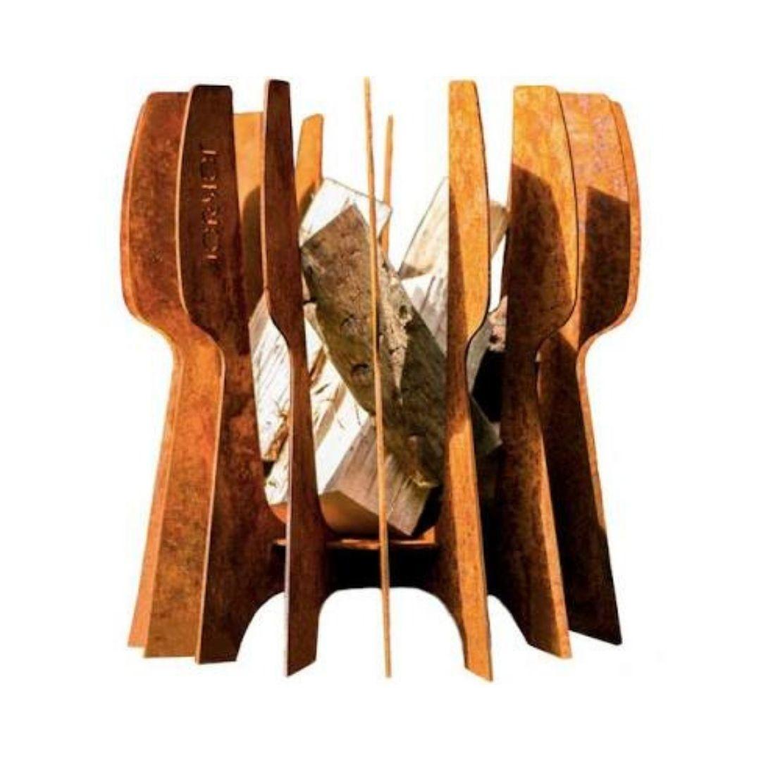 Korten staal vuurkorf Flint van Jokjor