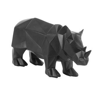 Present Time Zwart beeldje Neushoorn origami