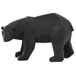 Present Time Zwart beeldje beer large