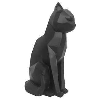 Present Time Zwart beeldje origami sitting cat