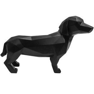 Present Time Zwart beeldje origami hond