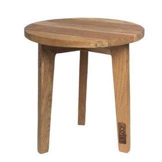 Mrs Bloom Ronde houten bijzettafel