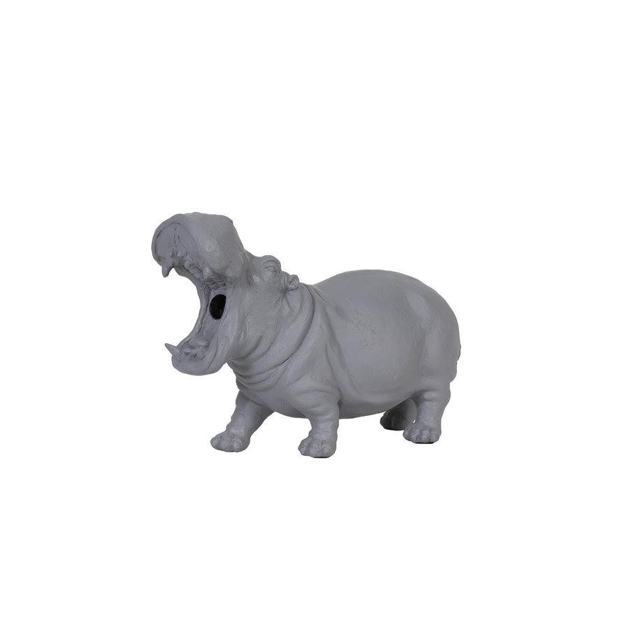 NIJLPAARD  LAMP HIPPO GRIJS