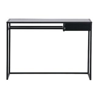 Woood Zwart metalen bureau met lade Teun
