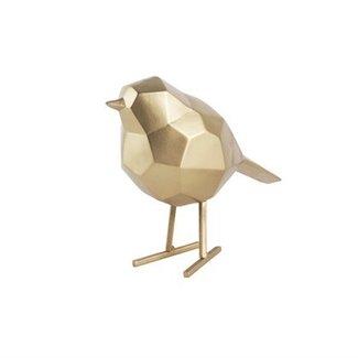 Present Time Vogel beeld goud