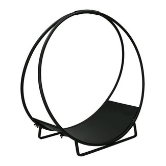 Pomax Houtmand zwart metaal