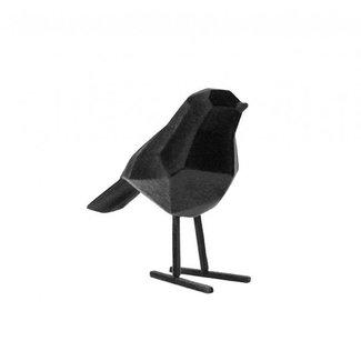 Present Time Vogel beeld zwart  velvet