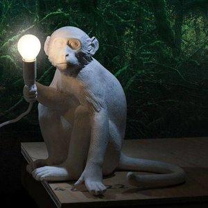 SELETTI MONKEY SITTING LAMP