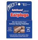 Mack's Earplugs - Ultra Soft Foam - 10 pair