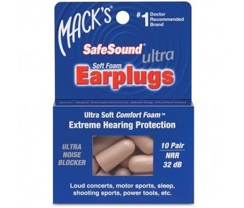 Mack's Earplugs - Ultra Soft Foam - 10 paar