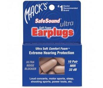 Mack's Earplugs - Ultra Soft Foam - 10 pair