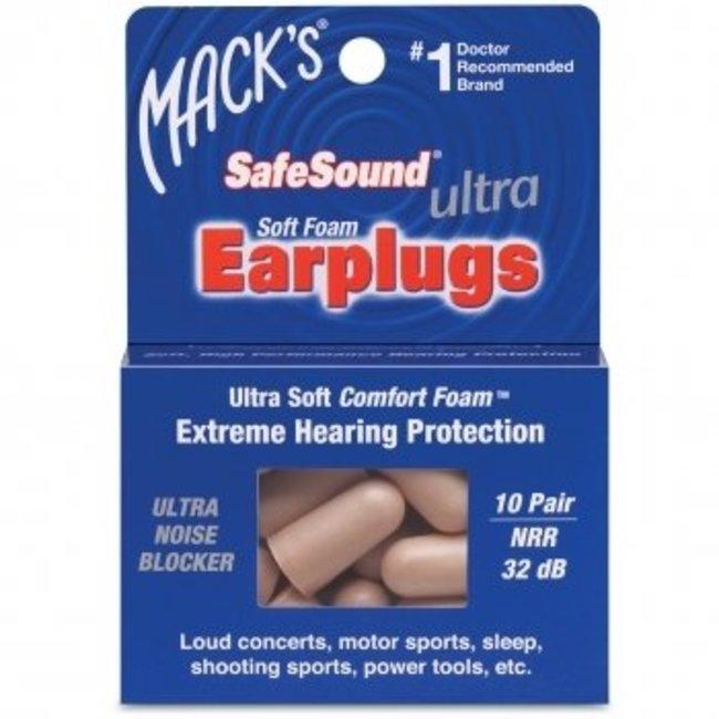 Mack's Earplugs - Ultra Soft Foam - 10 paar