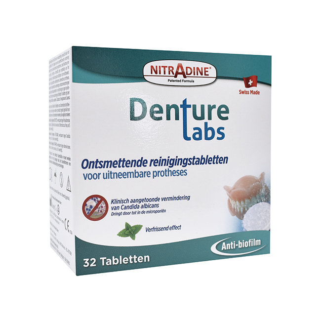 Nitradine® Reinigung für Anti-Schnarchbügel - 32 Tabletten