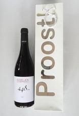 Cadeautasje Proost! voor 1 fles wijn