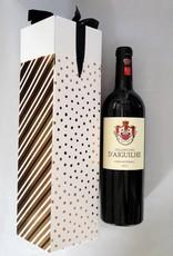 Doosje Feestdagen met strik voor 1 fles wijn