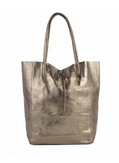 Shopper metallic brons