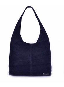 Suède handtas | Shopper d. blauw