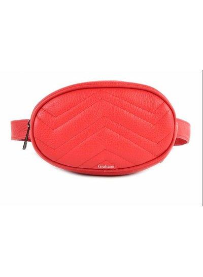 Belt Bag | Leer rood