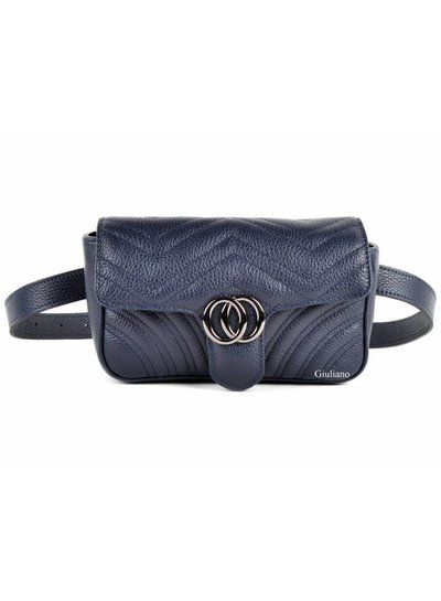 Lederen Belt Bag | Donkerblauw