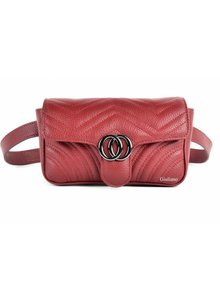 Lederen Belt Bag | Rood
