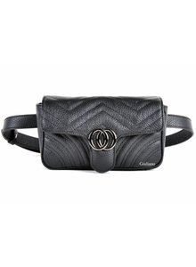 Lederen Belt Bag | Zwart