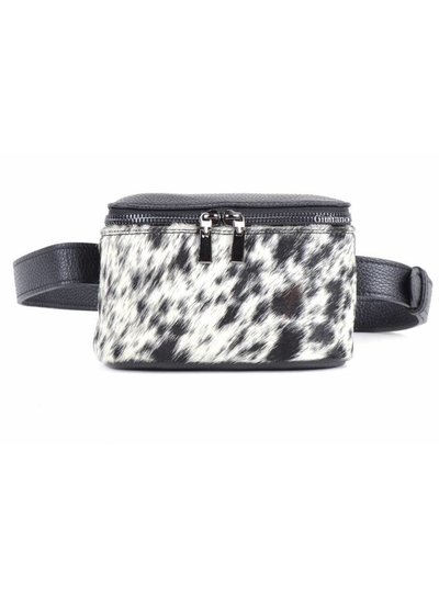 Lederen Belt Bag | Zwart-Wit