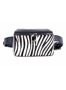 Lederen Belt Bag | Zebra