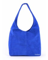 Suède handtas | Shopper  blauw