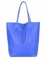 Lederen Shopper Blauw