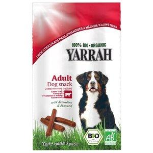 Yarrah Yarrah biologische kauwstaafjes hond rund met zeewier en spirulina