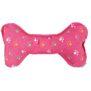Lief! Lief! hondenspeelgoed canvas bot met piep girls roze