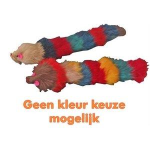 Merkloos Kattenspeelgoed bontmuis met buigbare langstaart