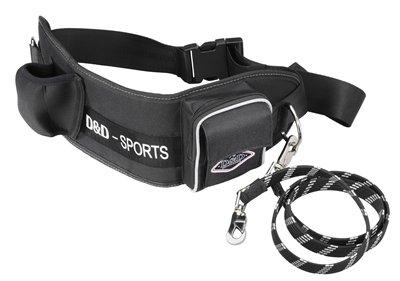 D&d hondenriem sports walker reflecterend grote hond zwart 110 cm