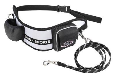 D&d hondenriem sports walker reflecterend kleine / middelgrote hond wit / zwart 110 cm