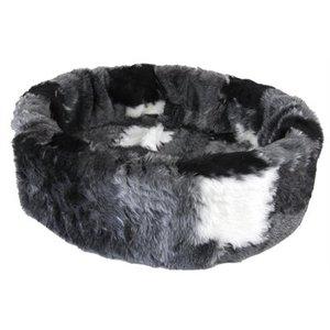 Petcomfort Petcomfort hondenmand bont lapjesdeken grijs