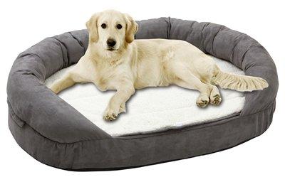 Karlie hondenmand ovaal ortho grijs 100x65x24 cm