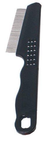 Vlooienkam mini plastic handgreep zwart 16x3x1 cm