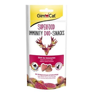 Gimcat Gimcat superfood immunity duo-snacks wild / cactusvijg