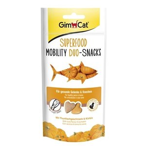 Gimcat Gimcat superfood mobility duo-snacks tonijn / pompoen